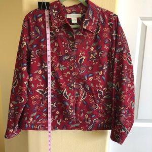 Appleseed's S Pattern Cotton Denim Jacket NWOT